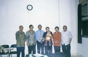 Para Guru Besarku di UGM, ujian tesis S2 ttahun 2003